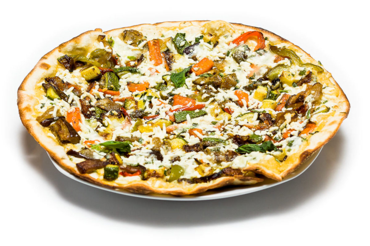 grilled vegetables flatbread