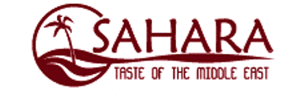Sahara Taste of the Middle East logo scroll