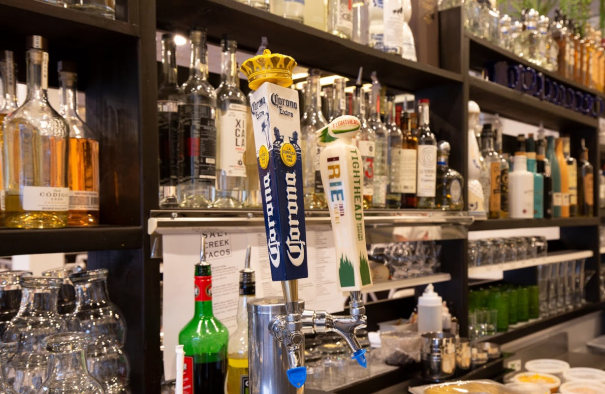 Interior, beer taps