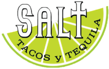 SALT Tacos y Tequila logo scroll