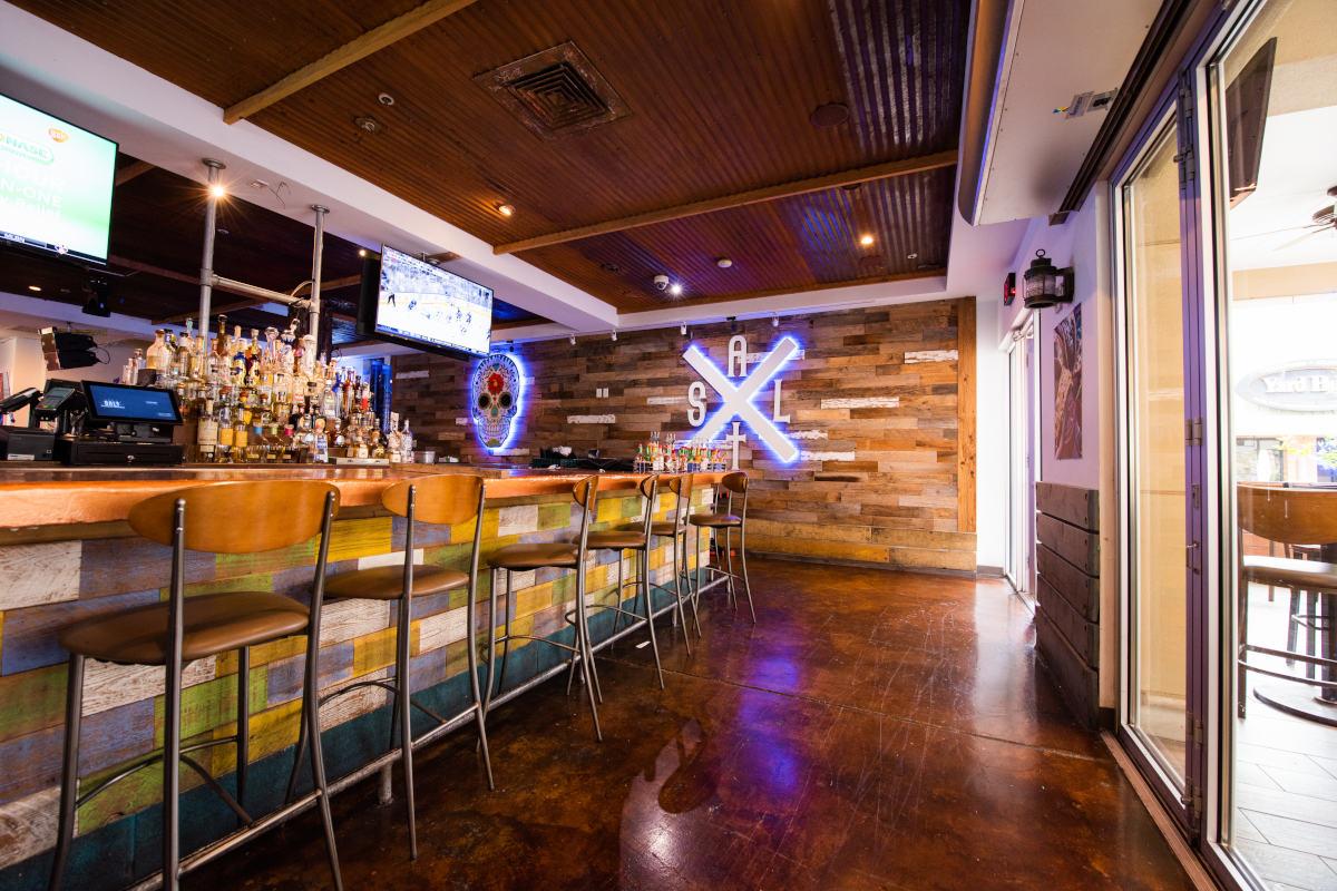 Restaurant bar area