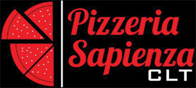 Pizzeria Sapienza CLT logo scroll