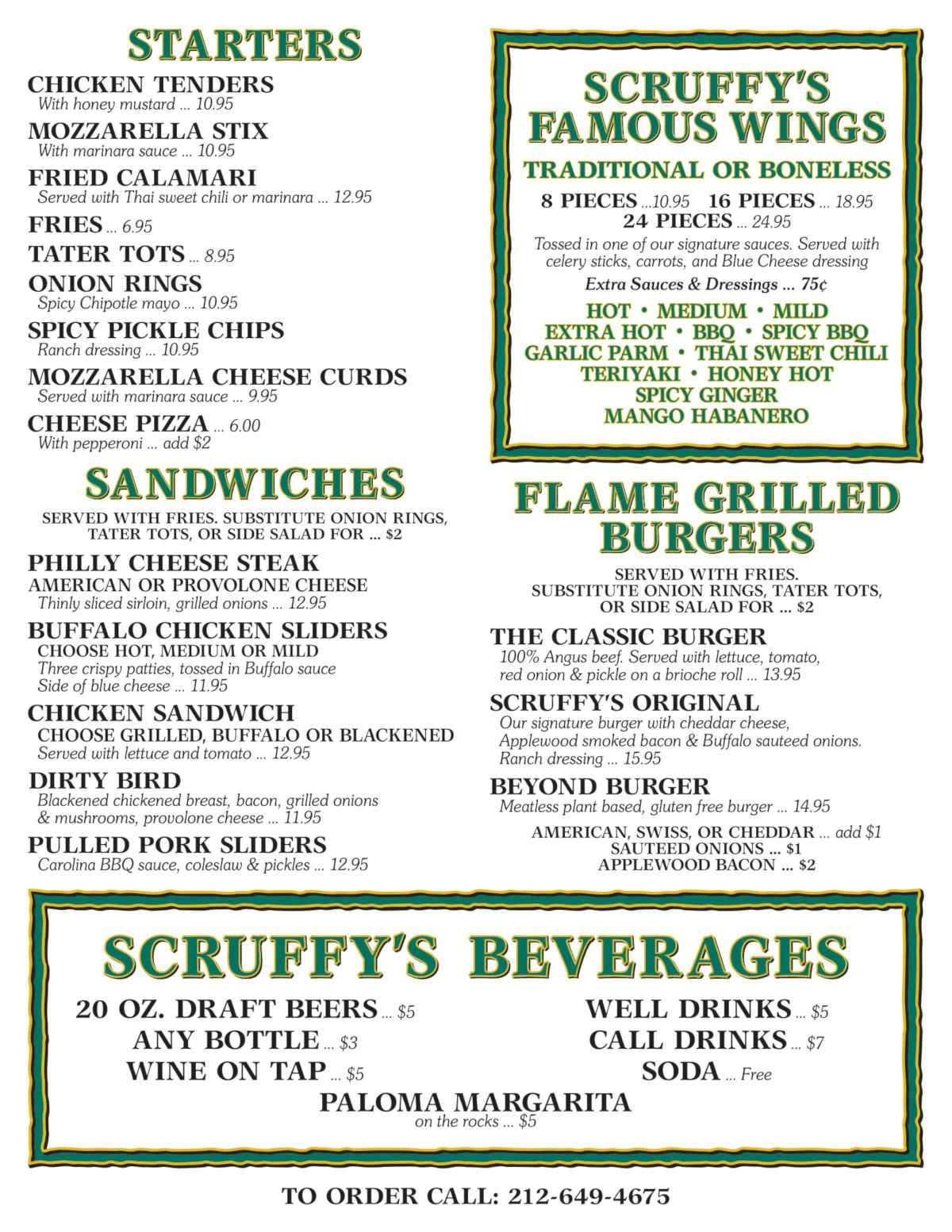second take out menu