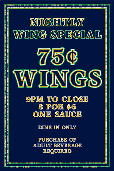 nightly wing tent flyer