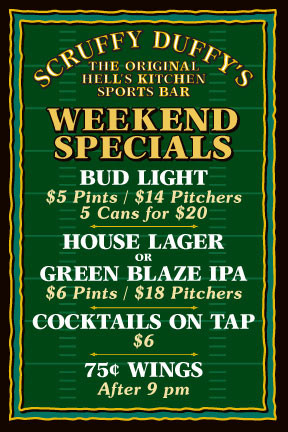 weekend specials flyer