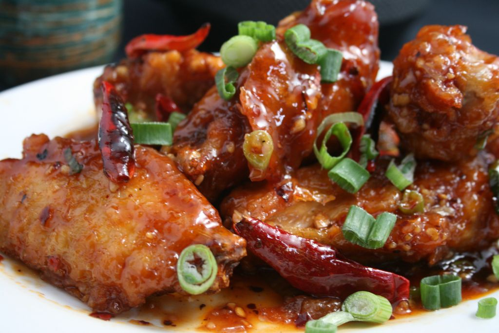 chicken spicy dry fried chicken wings