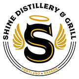 Shine Distillery and Grill logo top