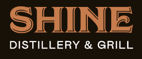 Shine Distillery and Grill logo scroll