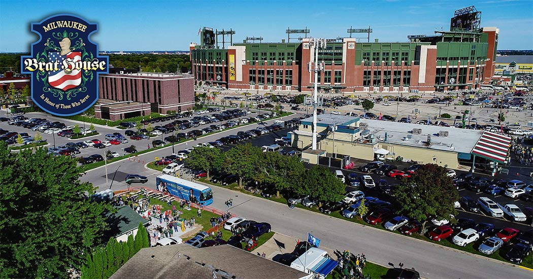Milwaukee Brat House Party Bus + Tailgate Party at Lambeau Field