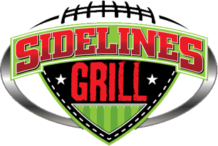 Sidelines Grill logo scroll