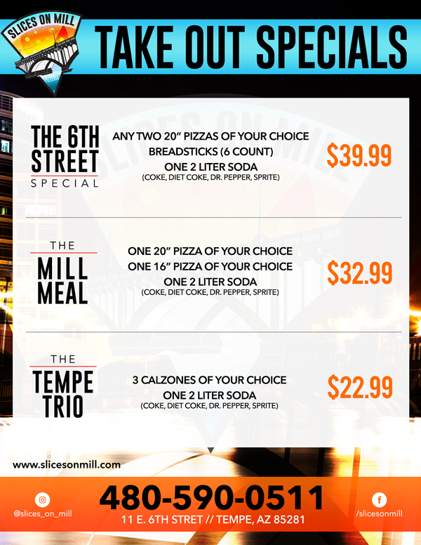 take out specials flyer