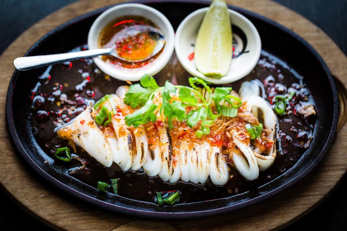 Grilled Calamari appetizer