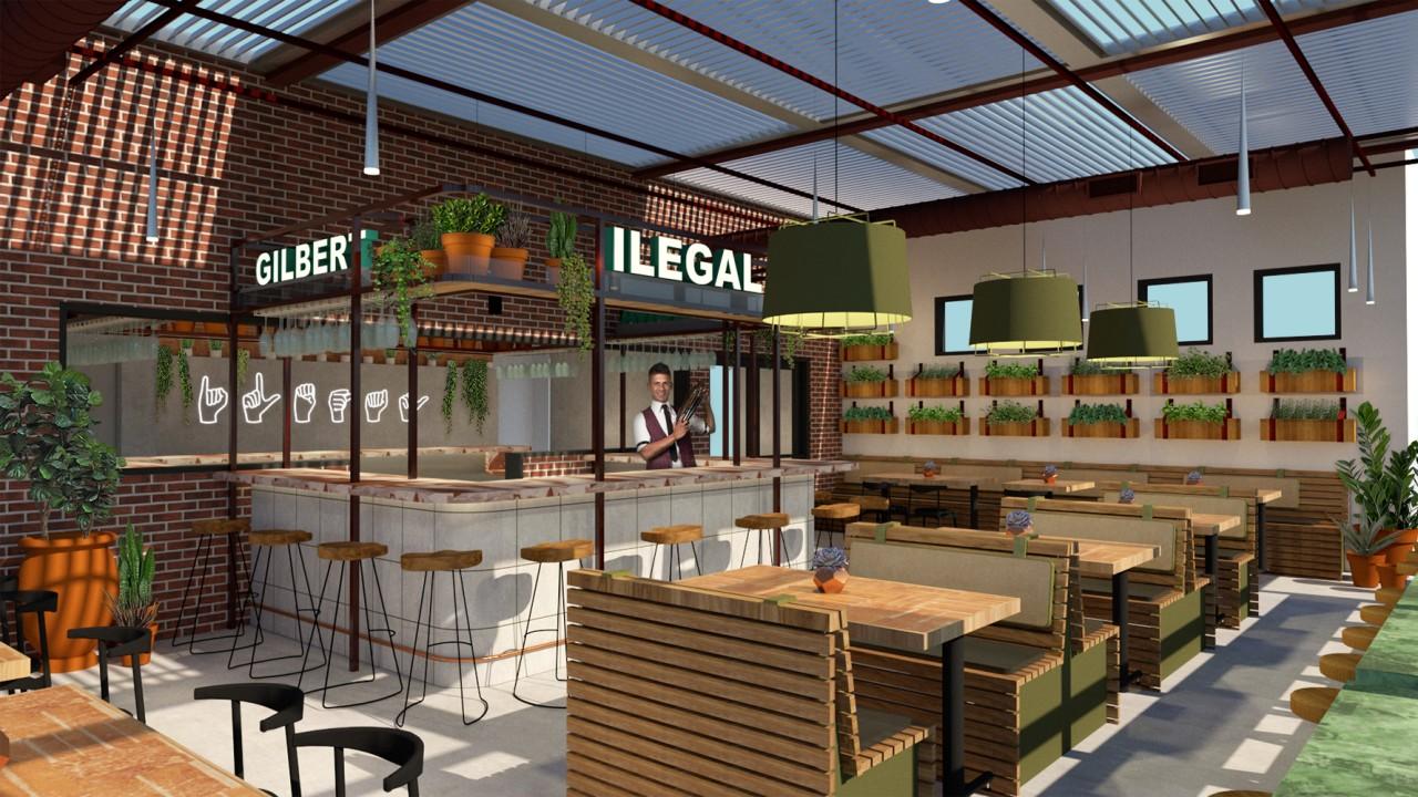 Animated Restaurant interior