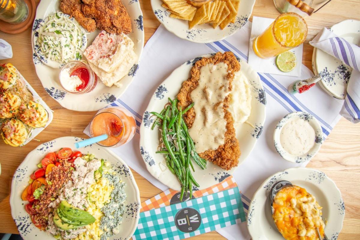various types of food top view