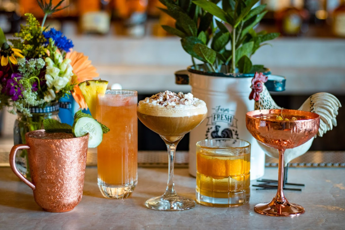 various types of drinks