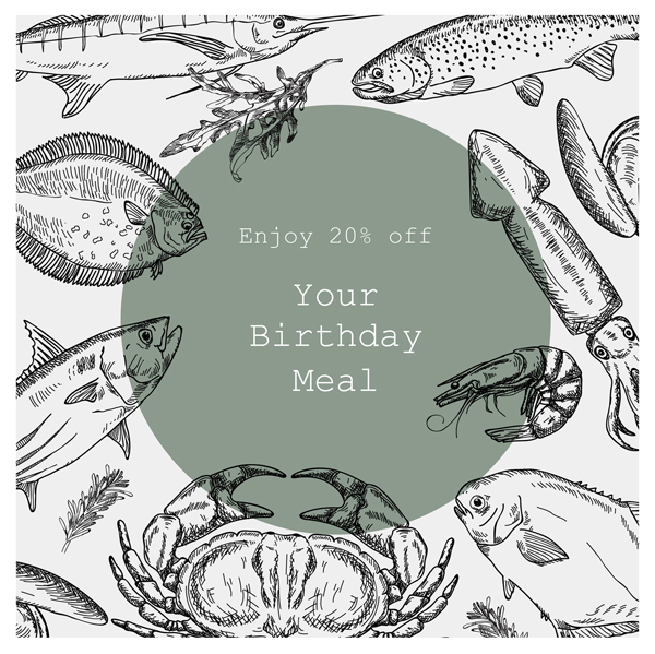birthday week flyer 20% off your order image