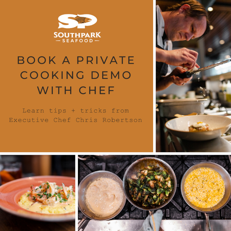 private cooking demo flyer