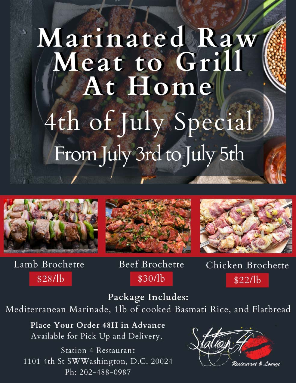 4th of July Special flyer