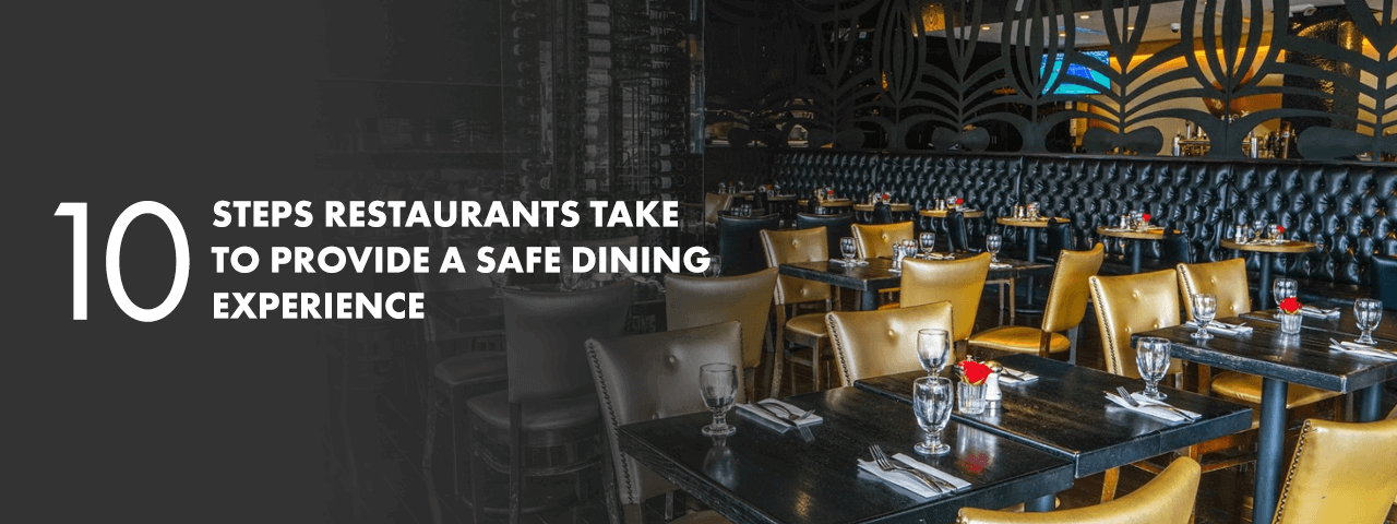 Safe Dining Experience flyer