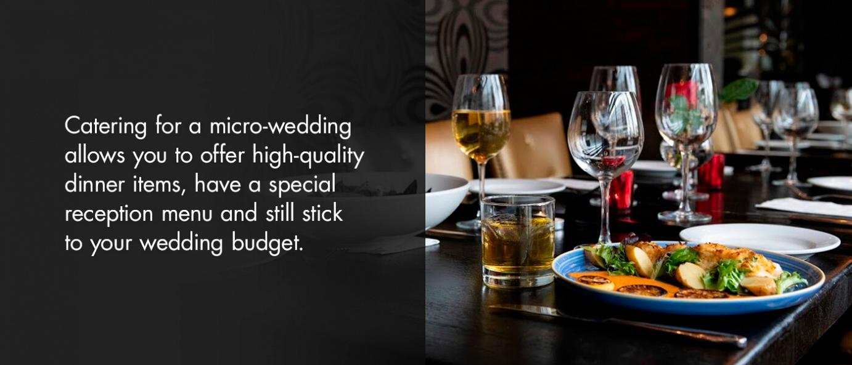 curating your micro wedding menu flyer