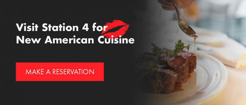 visit station 4 for new american cuisine flyer