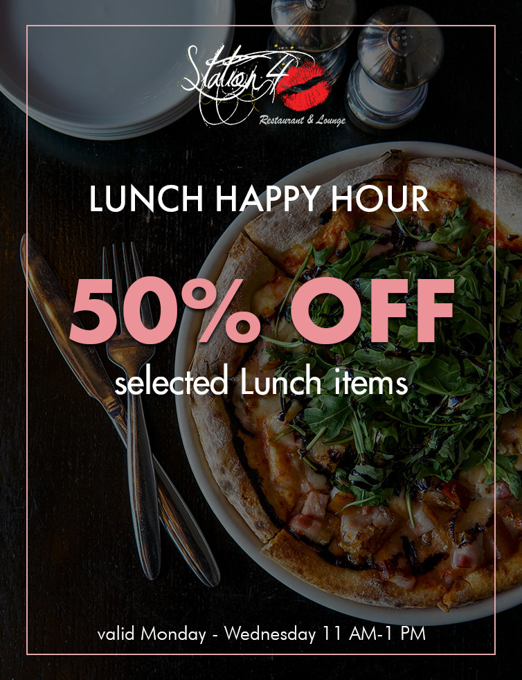 lunch happy hour flyer