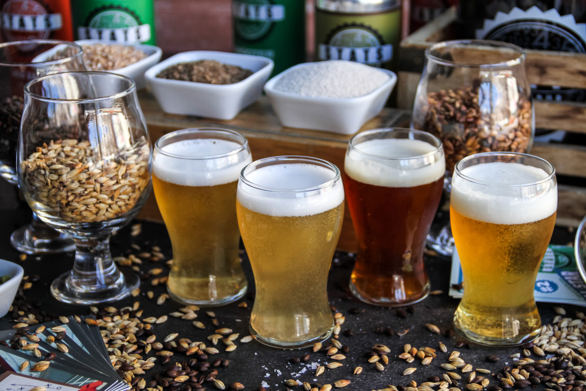 selection of different craft bier
