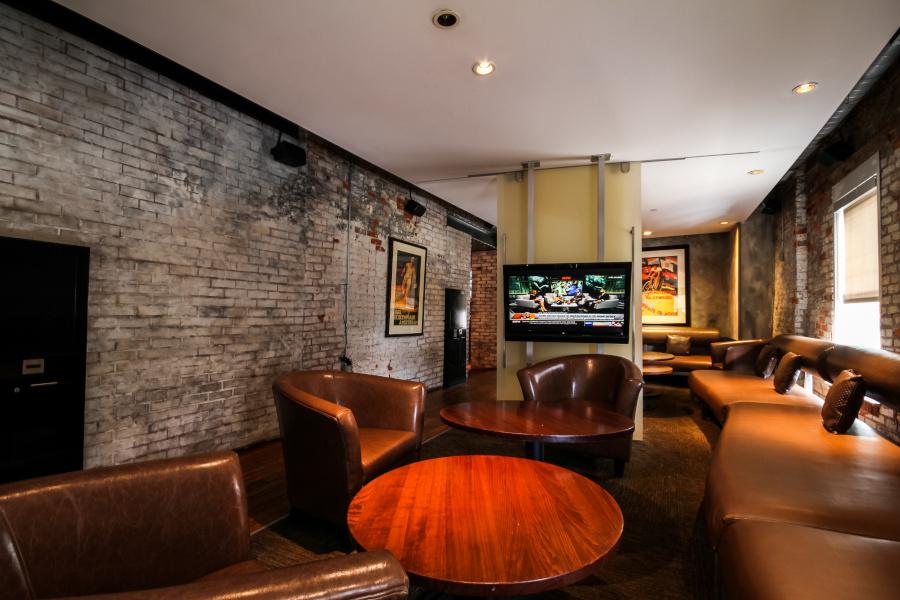 Restaurant interior, private section area
