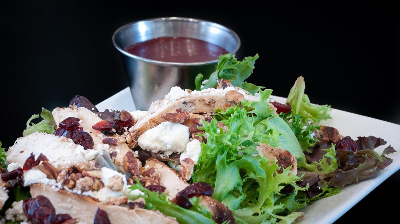 Gigi's Salad with chicken and creamy raspberry vinaigrette