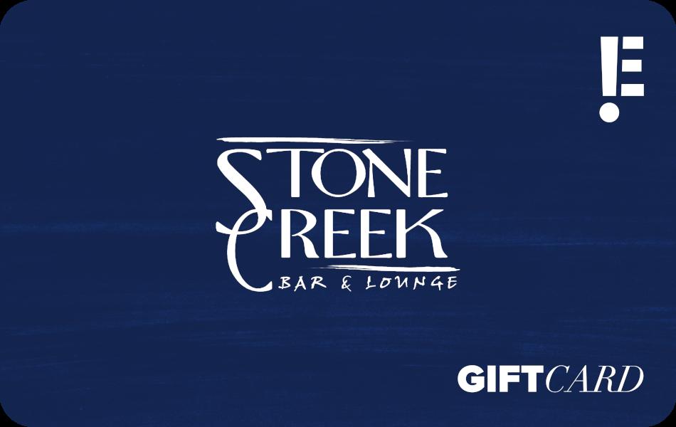 stone creek bar & launge gift card
