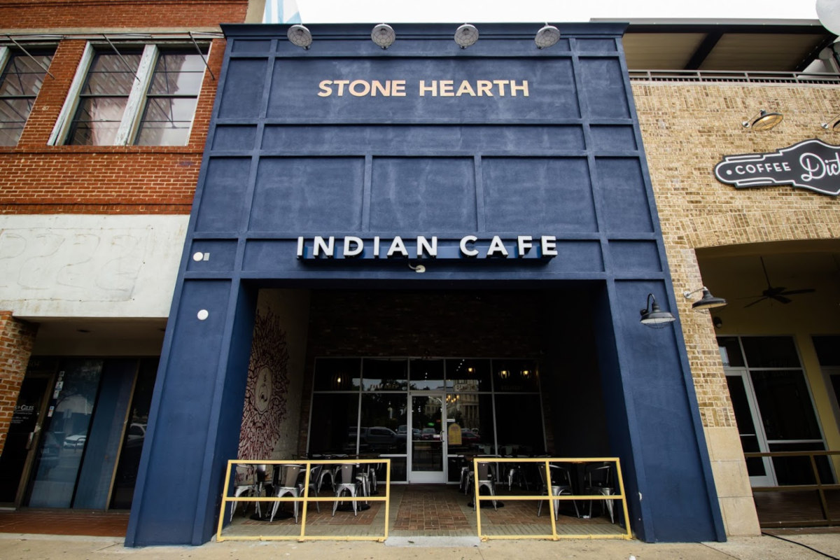 Front Entrance of Indian cafe