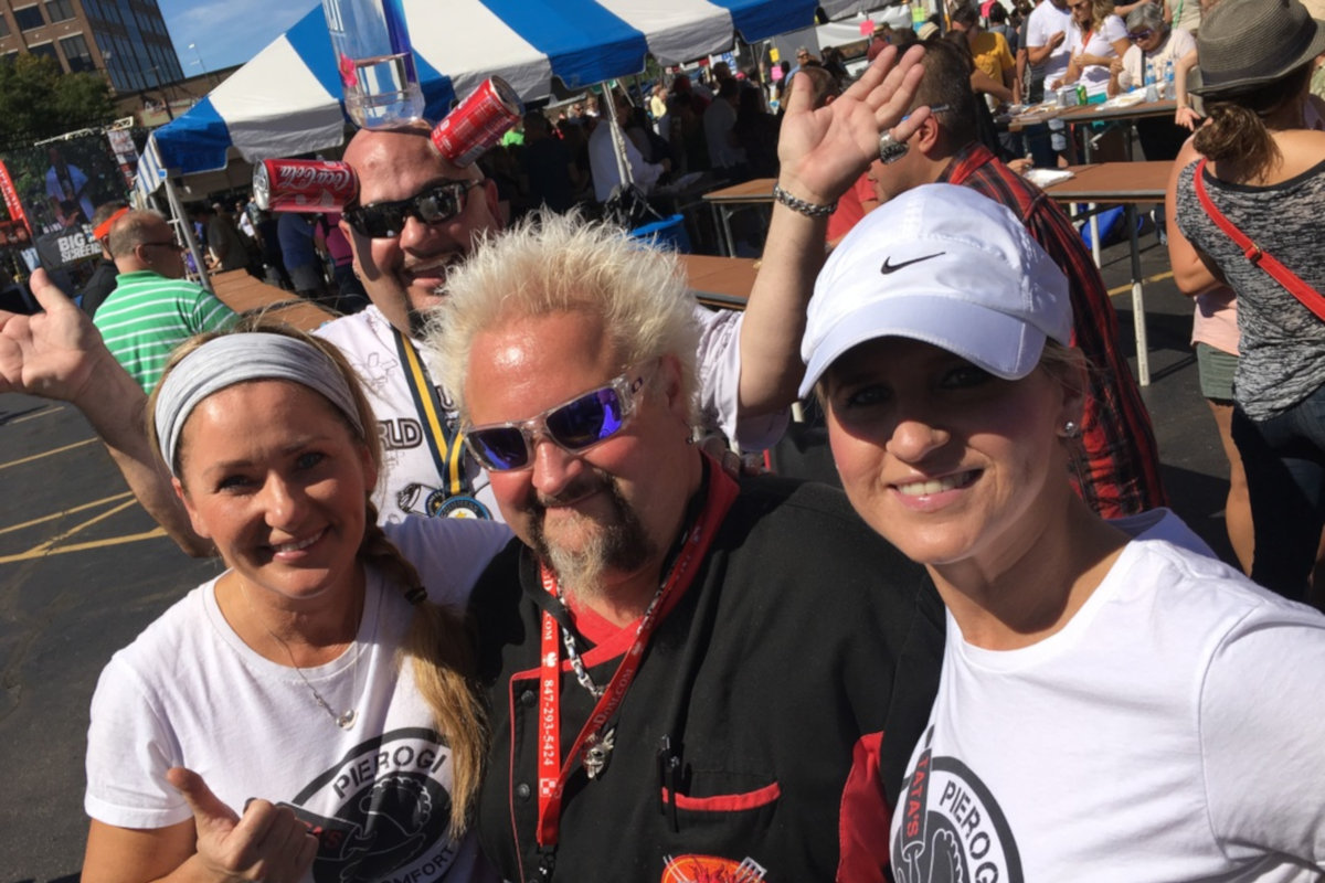 Guy Fieri with the staff