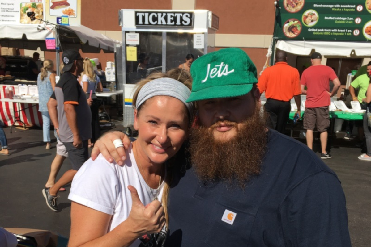 Action Bronson with the staff