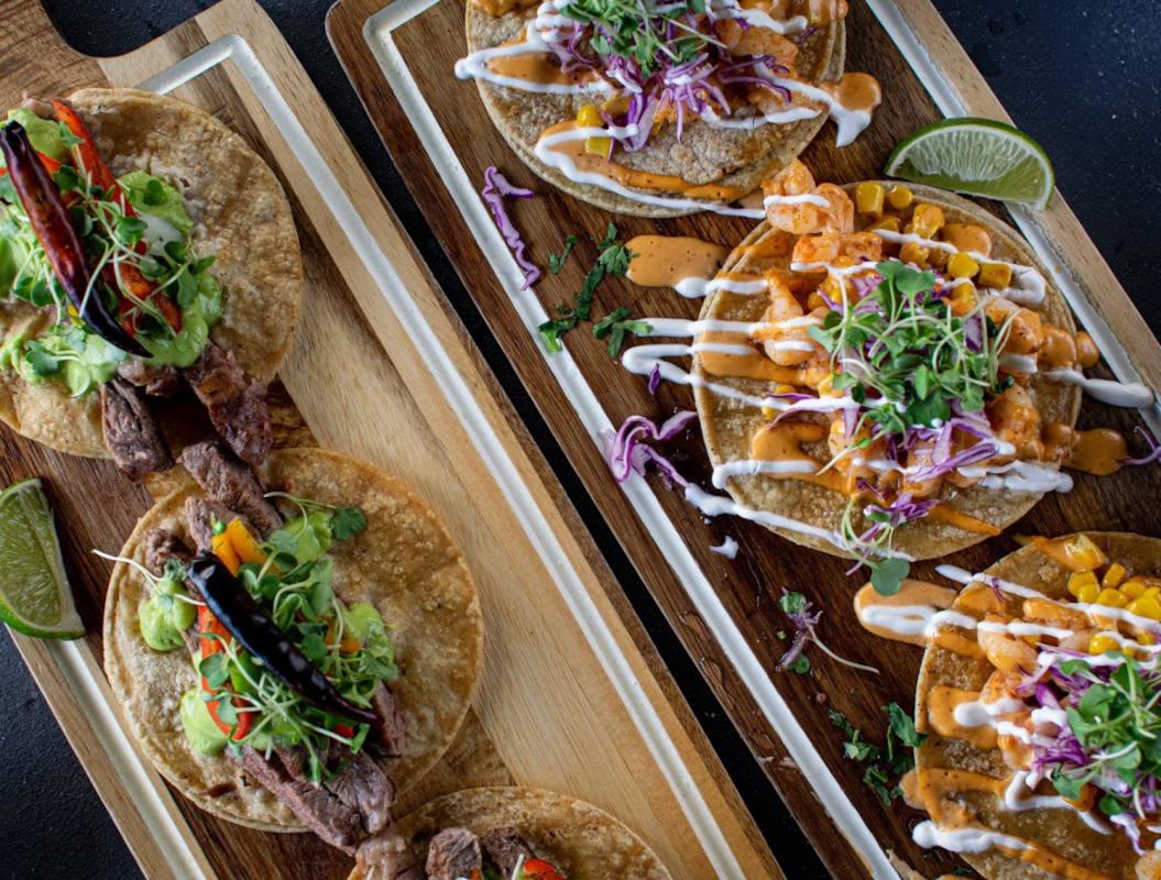 Ribeye and Shrimp Tacos