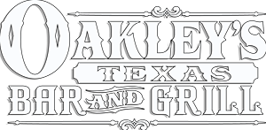 Oakley's Texas Bar & Grill logo scroll