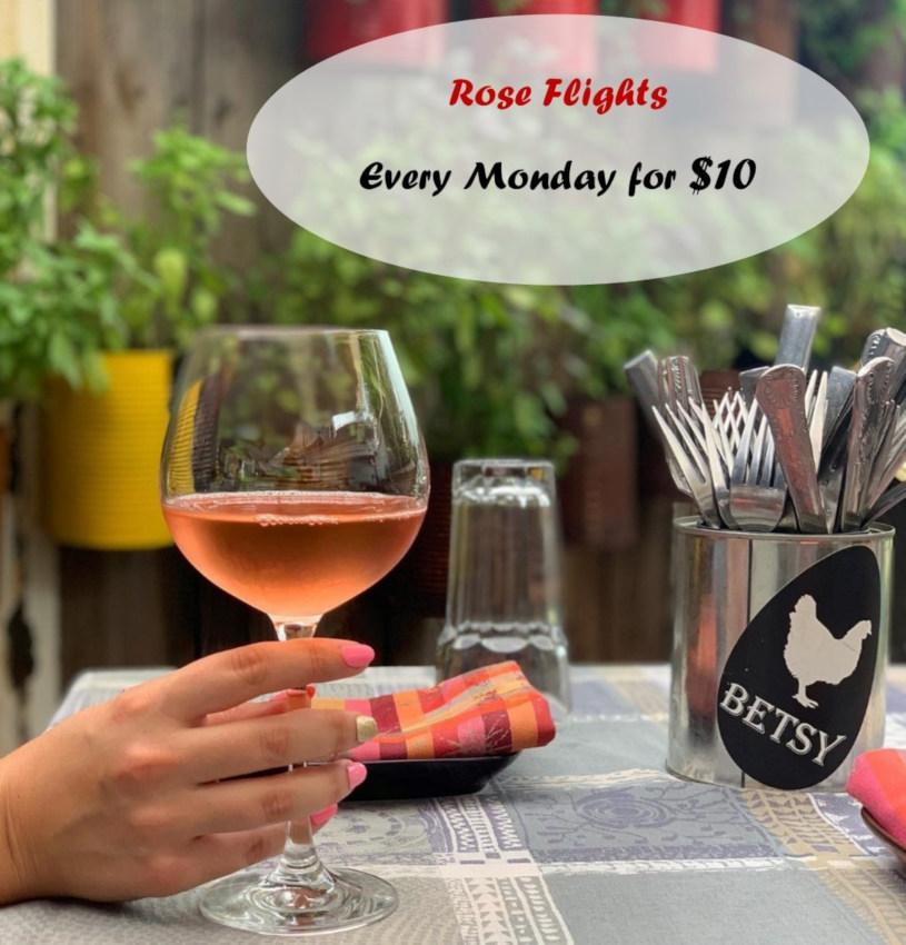 Rosé flights event flyer
