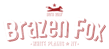 The Brazen Fox logo scroll