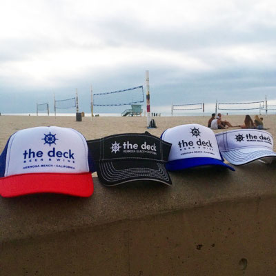 different coloured deck hats