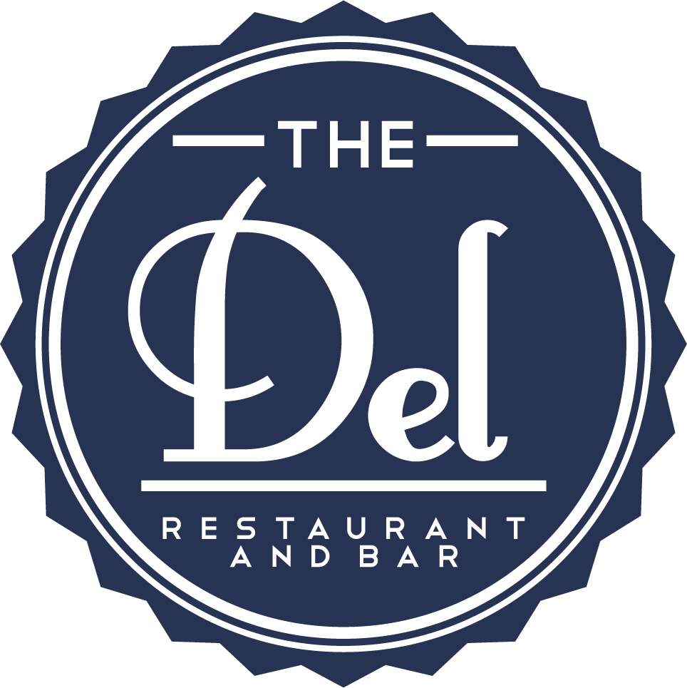 The Del logo scroll