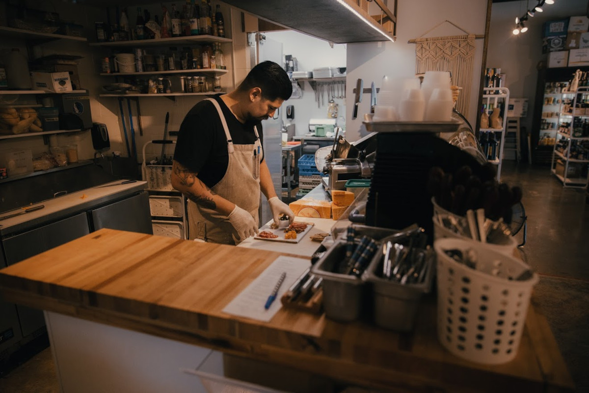 Staff member working in the kitchen