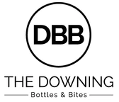 The Downing Bottles and Bites logo scroll