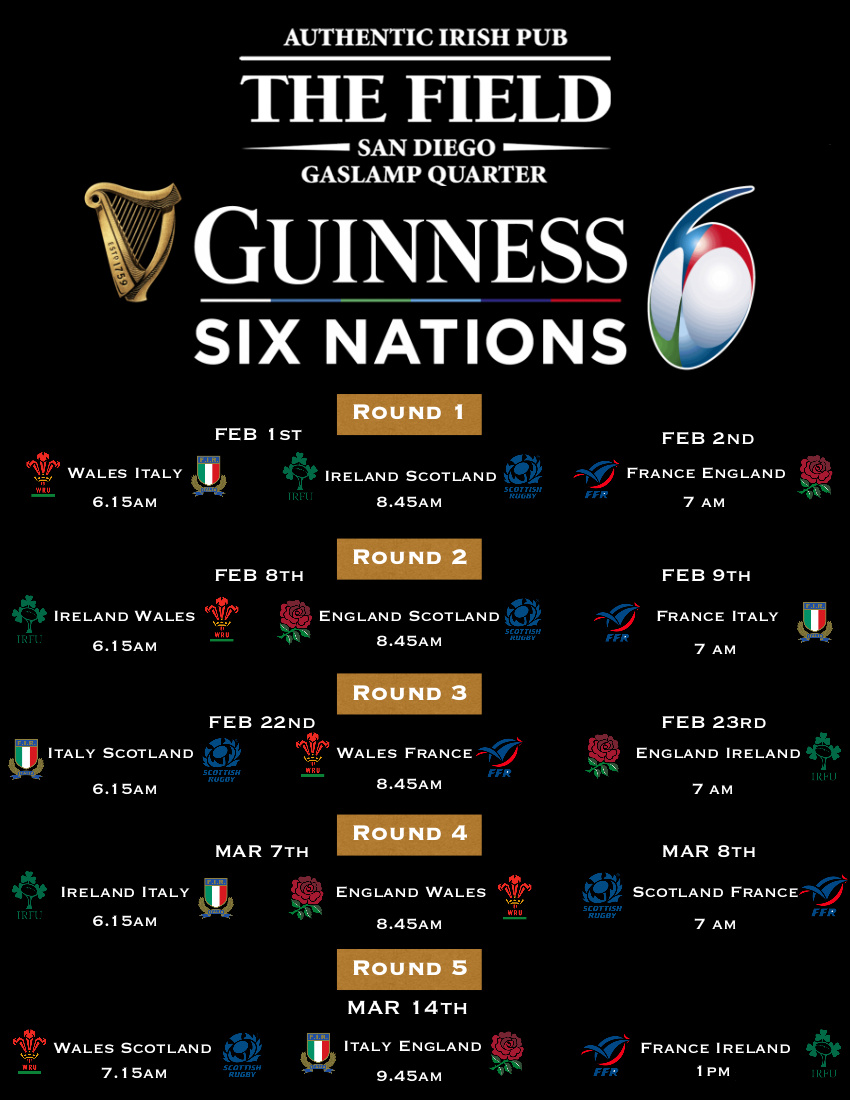 Guinness six nations flyer