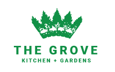 The Grove Kitchen + Gardens logo scroll