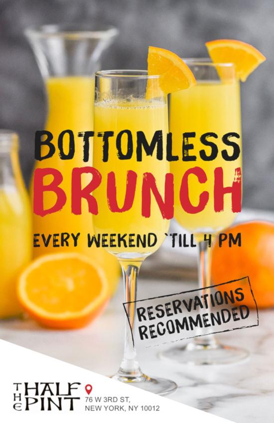 bottomless brunch flyer