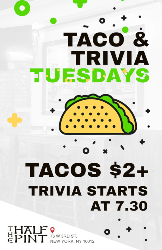 tacos and trivia flyer