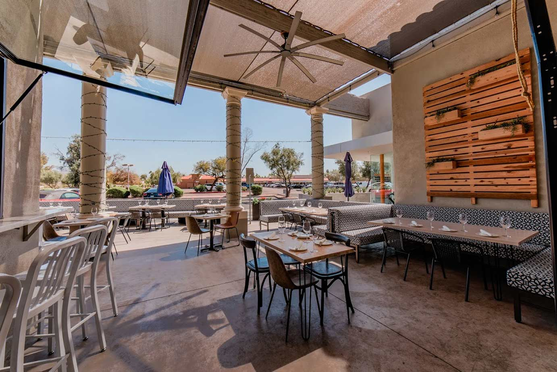 Restaurant patio