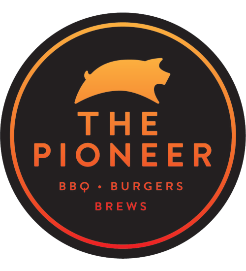 The Pioneer BBQ & Catering logo scroll