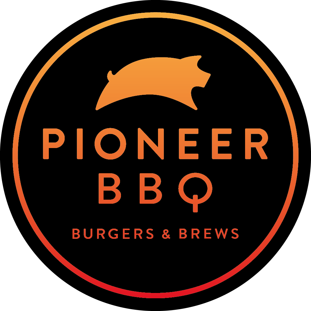 Pioneer BBQ & Catering logo scroll