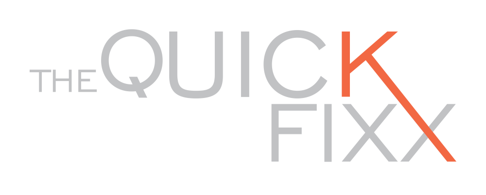 The Quick Fixx logo scroll