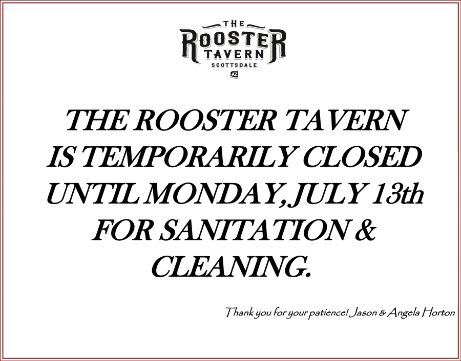 The Rooster Tavern closing July 2020 Covid info